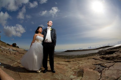 bride-and-groom-on-penarth-beach