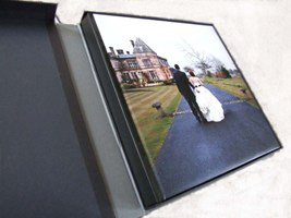 album in a box from cheap wedding photographers